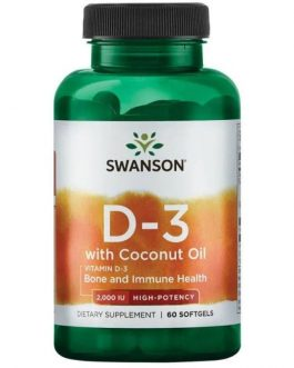 Swanson D-3 2000IU with coconut oil...